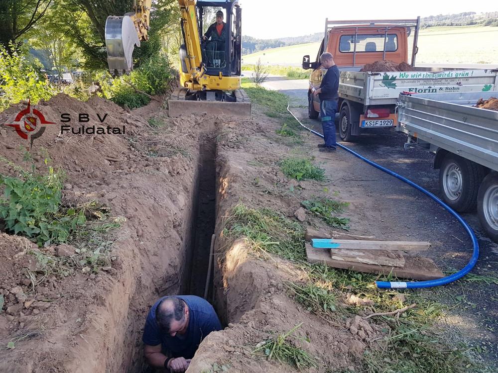 Wasserleitungsverlegung